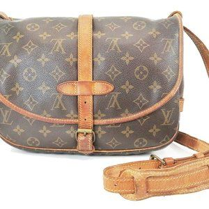Auth Louis Vuitton Saumur 30 Crossbody #7534L35B